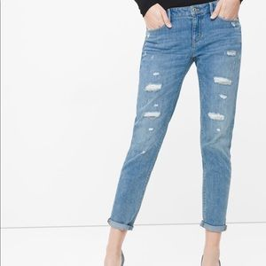 WHBM girlfriend cropped jeans, excellent cond